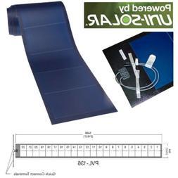 Uni-Solar PVL-136 Watt PowerBond Flexible 24V Amorphous Sola
