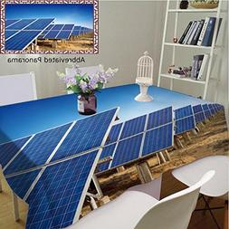 Unique Custom Cotton And Blend Tablecloths Solar Panels Agai