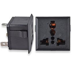Conwork 2-Pack Universal AC Power Connector Socket Panel Plu