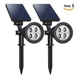 【Upgrade】 Solar Spotlights,4-LED Solar Landscape Lights