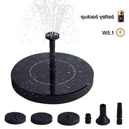 TIME4DEALS Upgraded Solar Fountain Water Pump - Battery Buil