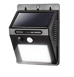 MIYAKO USA Solar Motion Sensor Light - 20 LED HETP Bright Ou