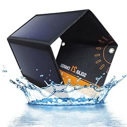JRSHOW 21W 5V 2-Port USB Portable Foldable Solar Charger wit