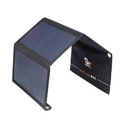 HIYILL 21W 5V Dual USB Solar Charger - Foldable Solar Panel