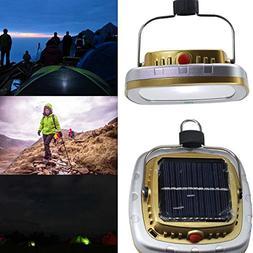 EKINHUI USB Portable Solar Power LED Bulb Lamp 6W Solar Pane