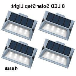 【Newest Version 8 LED】Solar Stair Step Lights Outdoor De