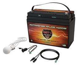 VMAX VSG12-100 Solar Rechargeable Battery Generator Kit: 1,3
