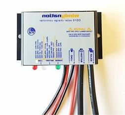 WindyNation Waterproof 10A 12V Solar Charge Controller w/ LE