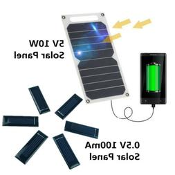 Waterproof 5V 10W Portable Solar Power Panel USB Charger For