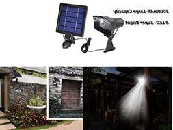 GMFive Waterproof 8 Enhanced LED 3000mAh Solar Spotlight - S