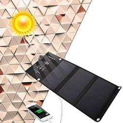 21w Dual USB Port Best Foldable Solar Panel Travel Charger,