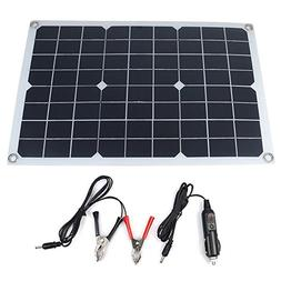 Qjoy 20W Waterproof Battery Solar Panel USB for Phone Lighti