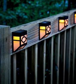 Waterproof Light Sensor Path Outdoor Solar Powered Fence Wal