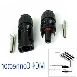 Waterproof Plug Cable for Solar Cells Panels  Female and Mal