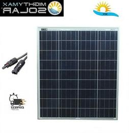 80 Watts Solar Panel 12V Poly Battery Charger for Trolling M