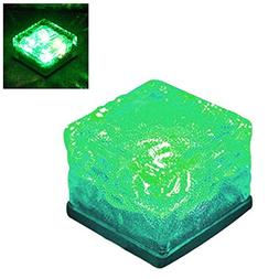 KOBWA Waterproof Solar Ice Brick LED Landscape Light,Glass,