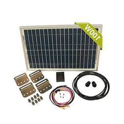 Newpowa 100w Watt Panel 12v Solar Battery Charging System Ki