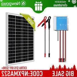 Newpowa 75w Watt 12v Solar Panel + PWM 10A 12v/24v Charge Co