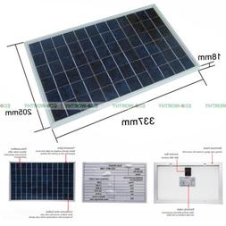 10W Watt Solar Panel Panels Cell For Car Boat Battery Chargi