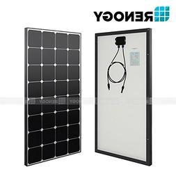 Renogy 100W Watts Black Solar Panel Mono 100W Watt 12V Volt