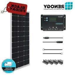 Renogy 100W 12V Mono Solar Panel Starter Kit 10A LCD Control
