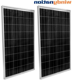 2pcs 100W Watts 100 Watt UL Solar Panel Off Grid 12 Volt 12V