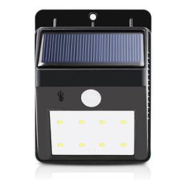White, China : Dcoo Solar Lamps 8 LEDs Bright Security Wirel