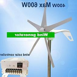 GOWE Wind generator 400w with 5 blades ,Max power 600watt +