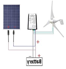 ECO-WORTHY 12 Volts 500 Watts Wind Solar Generator: 12V/24V