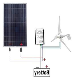 ECO-WORTHY 12 Volts 550 Watts Wind Solar Power: 1pc 12V/24V