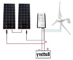 ECO-WORTHY 24 Volts 720 Watts Wind Solar Power: 1pc 12V/24V