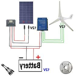 A-wonderful 500W Wind Solar Power:AC 12V 400W Wind Turbine G