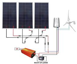 ECO-WORTHY 12 Volts to 110 Volts Wind Solar Power: 400W Wind
