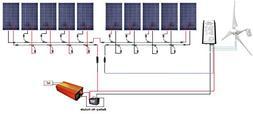 ECO-WORTHY 1.4Kw Wind Solar Power: 400W Wind Turbine Generat