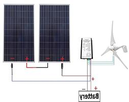 ECO-WORTHY 24 Volts 700 Watts Wind Solar Powered System: 1pc