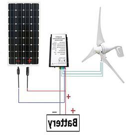 ECO-WORTHY 400W Wind Turbine Generator + 100W Monocrystallin
