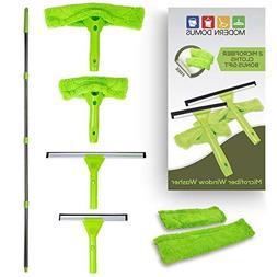 Modern Domus Neverending Reach Squeegee Window Cleaner Kit!