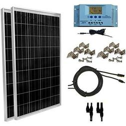 WindyNation 200 Watt Solar Panel Kit: 2pcs 100W Solar Panels