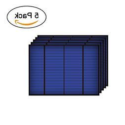 DPJ 5PCS X 18V 83mA 1.5Watt 1.5W Solar Panel Standard Epoxy