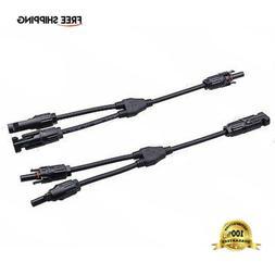 y branch connectors cable solar panel cable