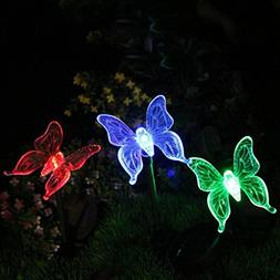 LiPing Yard Stake Fluttering Butterfly/Dragonfly/Bird Outdoo